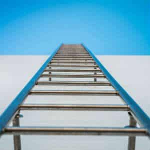 ladder up to a roof