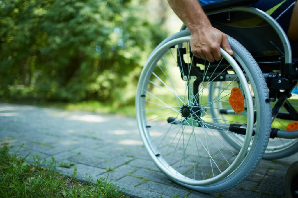 man using wheelchair
