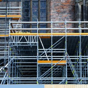 scaffolding that may be violating safety standards
