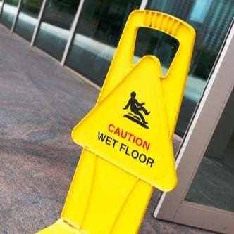slip and fall caution